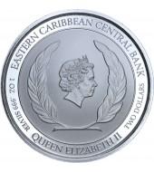 Срібна монета 1oz Монтсеррат 2 долара 2018 Східні Кариби