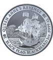 Серебряная монета 1oz Пиратский корабль «Месть Королевы Анны» 1 доллар 2019 Тувалу