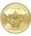 Золотая монета 1/25oz Папа Бенедикт XVI 25 долларов 2005 Либерия