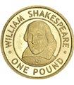 Золотая монета 1/25oz Вильям Шекспир 1 фунт 2006 Олдерни