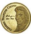 Золотая монета 1/25oz Фредерик Шопен 1500 франков КФА 2007 Кот-д'Ивуар