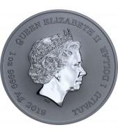 Срібна монета 1oz Капітан Америка 1 долар 2019 Тувалу