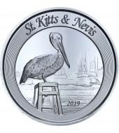 Срібна монета 1oz Сент-Кітс и Невіс 2 долара 2019 Східні Кариби