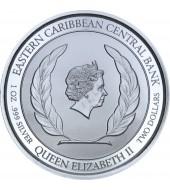 Срібна монета 1oz Антігуа та Барбуда 2 долара 2019 Східні Кариби