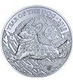 Серебряная монета 1oz Год собаки 2 фунта 2018 Великобритания