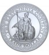 Срібна монета 1oz Торговий долар Британії 1 фунт стерлінгів 2018 Остров Святої Єлени