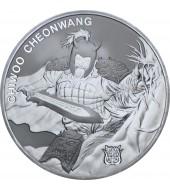 Срібна монета 1oz Chiwoo Cheonwang 1 clay 2018 Корея