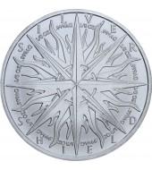 Срібна монета Ярослав Мудрий 10 гривень 2001 Україна
