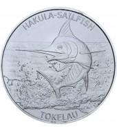 Срібна монета 1oz Блакитний Марлін 5 доларів 2016 Токелау