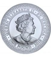 Срібна монета 1oz Торговий долар Америки 1 фунт стерлінгів 2018 Остров Святої Єлени