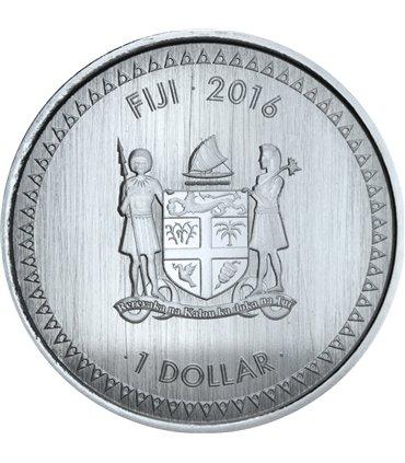 Срібна монета 1oz Черепаха Таку 2 долари 2011 Фіджі