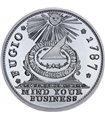 Серебряная монета 2oz Фугио-цент 1787 США рестрайк