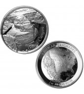 Срібна монета 1oz Ігуана 1 долар 2015 Фіджі