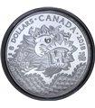 Срібна монета 1/4oz Дракон 8 доларів 2018 Канада