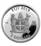 Серебряная монета 1oz Австралийский Лебедь 1 доллар 2019 Австралия