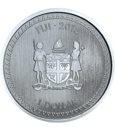 Срібна монета 1oz Сапсан Хижі Птахи 5 доларів 2014 Канада