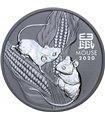 Серебряная монета 2oz Год Мыши (Крысы) 2 доллара 2020 Австралия