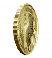 Золотая монета 1/10oz Год Змеи 15 долларов Австралия 2001