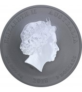 Серебряная монета 2oz Год Собаки 2 доллара 2018 Австралия