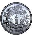 Срібна монета 1oz Тяньцзиньський Дракон 1 долар Китай 2018 рестрайк