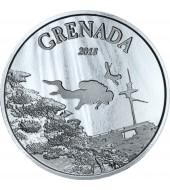 Срібна монета 1oz Гренада 2 долари 2018 Східні Кариби