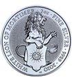 Серебряная монета 2oz Белый Лев Мортимера 5 фунтов 2020 Великобритания