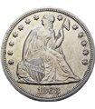 Срібна монета 1 долар 1868 США