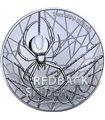 Серебряная монета 1oz Красноспинный паук 1 доллар 2020 Австралия