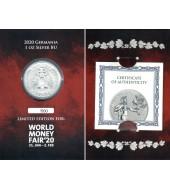 """Серебряная монета 1oz Дарт Вейдер """"Звездные Войны"""" 2 доллара 2019 НИУЭ"""