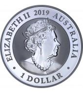 Золотая монета 1/10oz Британская Дымчатая Кошка 1 крона 1997 Остров Мэн