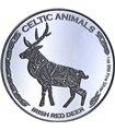 """Срібна монета 1oz Ірландський Олень серія """"Кельтські тварини"""" 500 франків КФА 2019 Чад"""