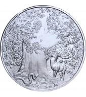Серебряная монета 1oz Африканский Леопард 5 седи 2019 Гана