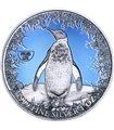 Серебряная монета 1oz Пингвин 2 доллара 2019 Ниуэ (цветная)