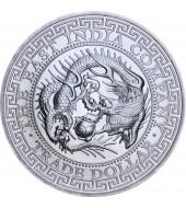 Срібна монета 1oz Торговий долар Японії 1 фунт стерлінгів 2020 Острів Святої Єлени