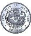 Срібна монета 1oz Дракон HU POO 1 долар Китай 2019 рестрайк