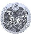 Срібна монета 1oz Рік Собаки 50 франків 2018 Руанда