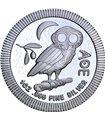Срібна монета 1oz Афінська Сова 2 долара 2020 Ніуе
