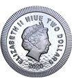 Серебряная монета 1oz Зеленый Дракон 2 доллара 2019 НИУЭ
