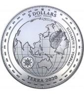Срібна монета 1oz Терра 5 доларів 2020 Токелау