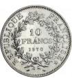 Серебряная монета 10 франков 1965-1970 год Франция