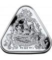 """Серебряная монета 1oz Кораблекрушение """"Вергюлде Драк"""" 1 доллар 2020 Австралия"""