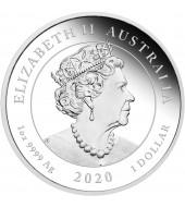 Серебряная монета 1oz Единственная Любовь 1 доллар 2020 Австралия