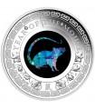 Серебряная монета 1oz Год Мыши (Крысы) 1 доллар 2020 Австралия (опал)