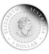 Срібна монета 1oz Рік Миші (Пацюка) 1 долар 2020 Австралія (опал)