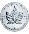 Срібна монета 1oz Кленовий Лист 5 доларів 2007 Канада