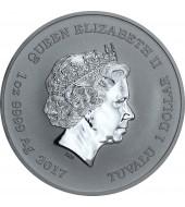 Срібна монета 1oz Людина Павук 1 долар 2017 Тувалу