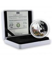 Серебряная монета 1oz Джокер 1 доллар 2019 Тувалу (цветная)