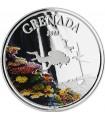Серебряная монета 1oz Гренада 2 доллара 2018 Восточные Карибы (цветная)