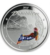 Серебряная монета 1oz Джон Уэйн 1 доллар 2020 Тувалу (цветная)