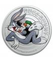 "Серебряная монета 1/2oz Кролик Багз (серия ""Looney Tunes"") 50 центов 2018 Тувалу (цветная)"